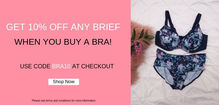 10% off ANY briefs with a bra